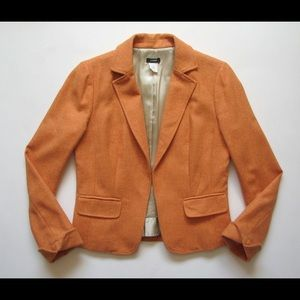 J Crew Womens Orange Ecole Jacket Blazer 14